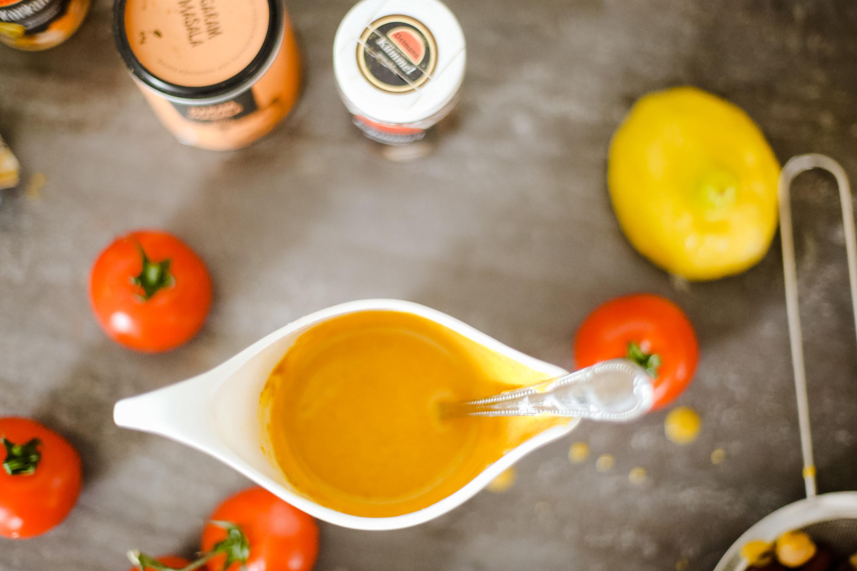 süßkartoffelcurry mit kichererbsen